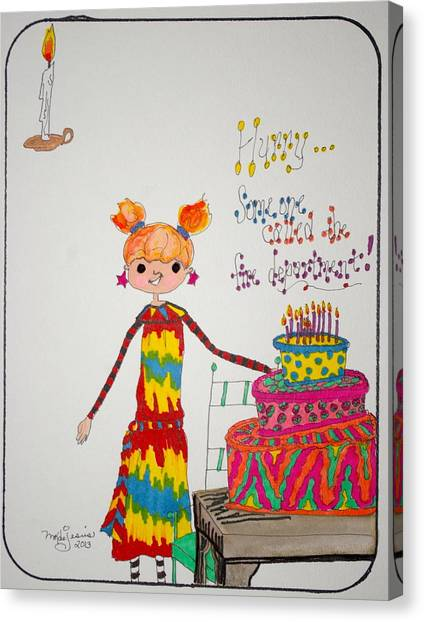 Happy Birthday Canvas Print by Mary Kay De Jesus
