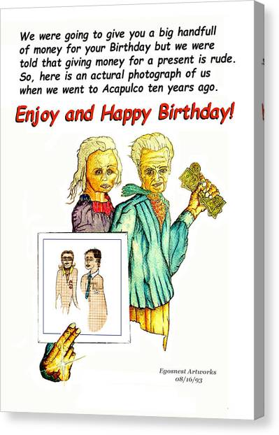 Happy Birthday Office Memo Employee Canvas Print