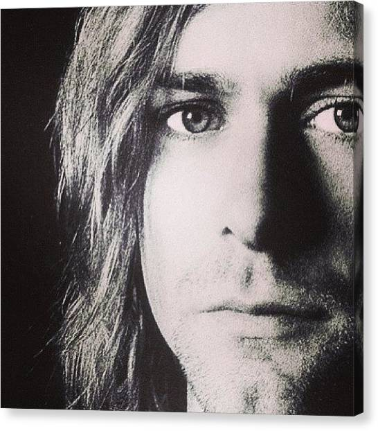 Kurt Cobain Canvas Print - Happy Birthday To My Favorite Singer by Nicolo Carollo