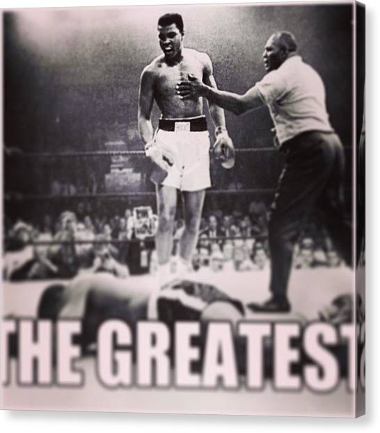 Goats Canvas Print - Happy Birthday To The G.o.a.t by Wes Boese