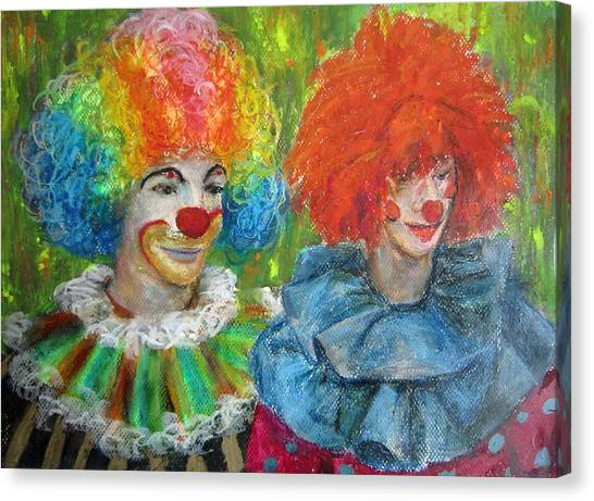 Gemini Clowns Canvas Print