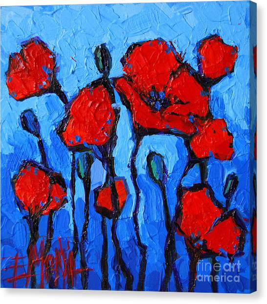 Fauvism Canvas Print - Happy Coquelicots by Mona Edulesco