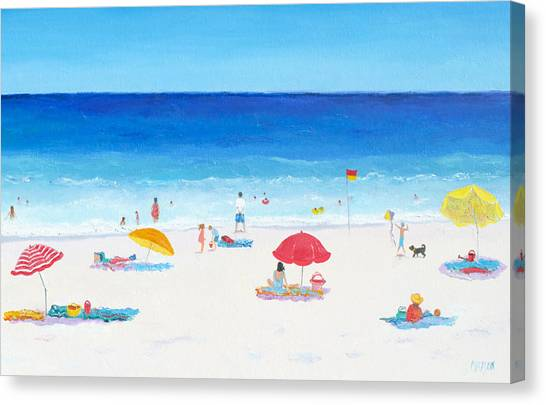 Beach Resort Vacation Canvas Print - Happy Days 2 by Jan Matson