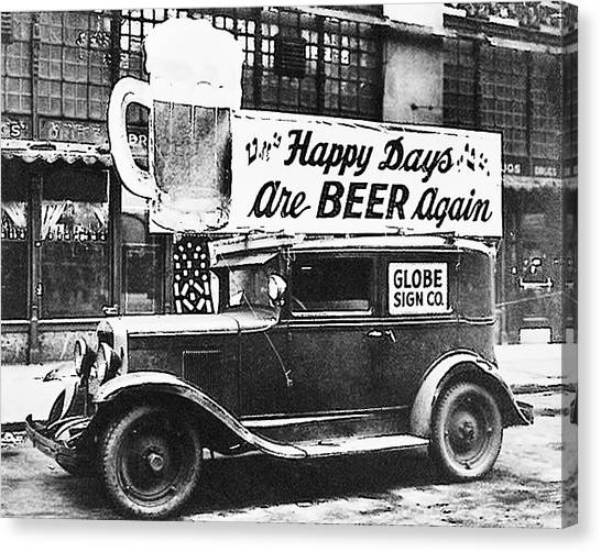 Happy Days Are Beer Again Canvas Print