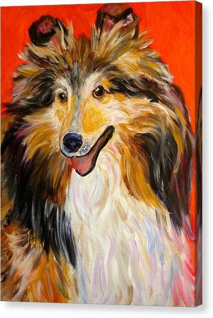 Happy Dog  --  Sheltie Canvas Print