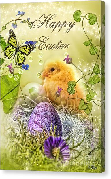 Mo Canvas Print - Happy Easter by Mo T