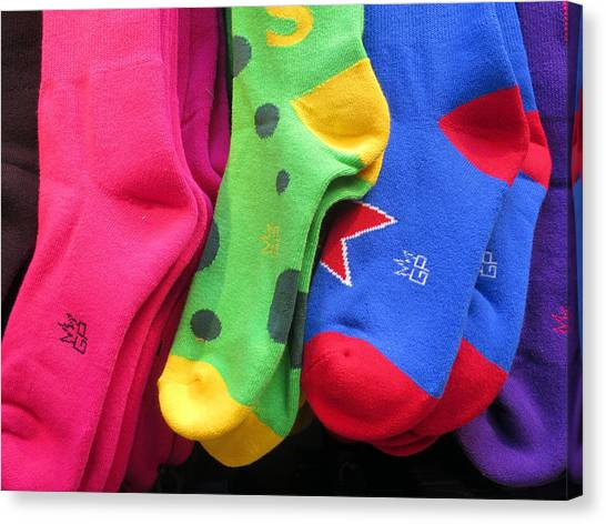 Wear Loud Socks Canvas Print
