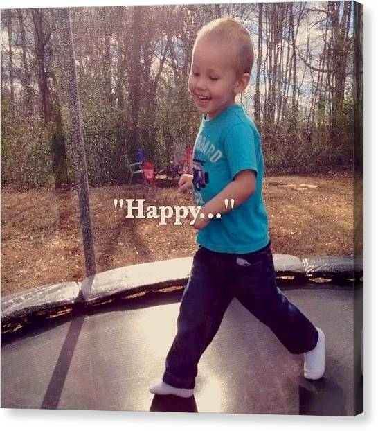 Trampoline Canvas Print - #happy #flipagram #70degrees #today #sc by Lori Lynn Gager