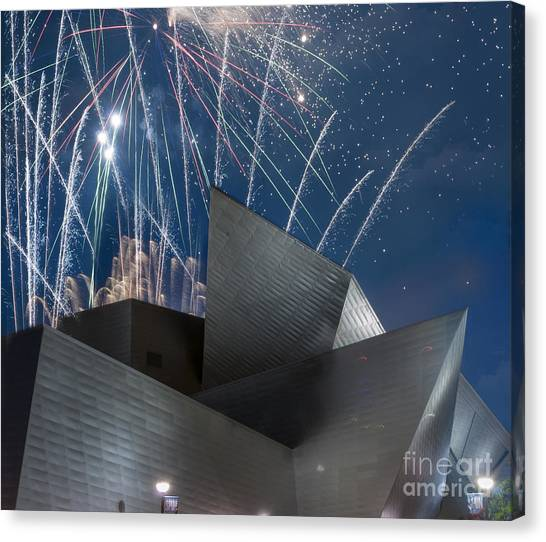 Architectural Detail Canvas Print - Happy Fourth by Juli Scalzi