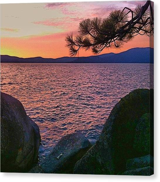 Lake Sunsets Canvas Print - Happy Friday ! Sunset At Tahoe Last by Jonathan Nguyen