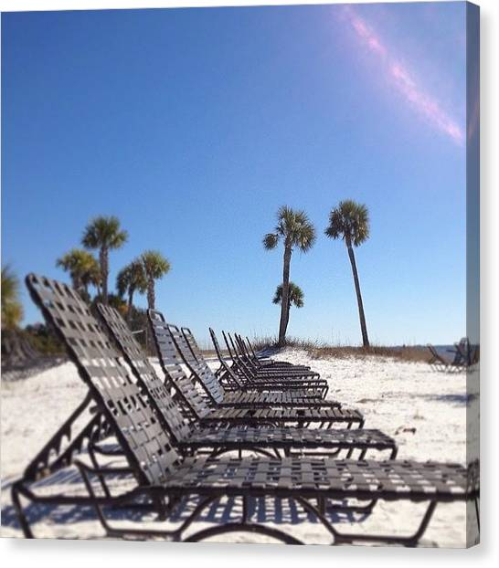 White Sand Canvas Print - Get Some Sun by Rosie Lackey