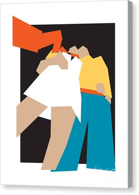 Suprematism Canvas Print - Happy Future by Igor Kislev