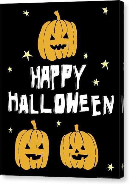 Halloween Canvas Print - Happy Halloween by Wild Apple Portfolio