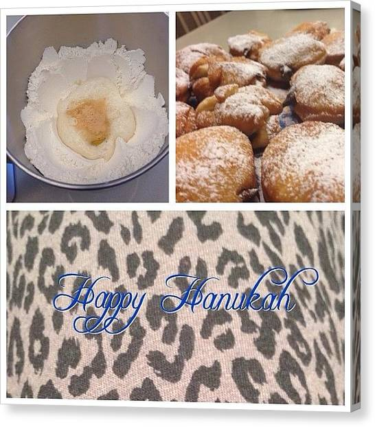 Doughnuts Canvas Print - Happy Hanukah ! #doughnuts #sufganiot by Adela Amiga