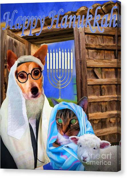 Happy Hanukkah  - 2 Canvas Print
