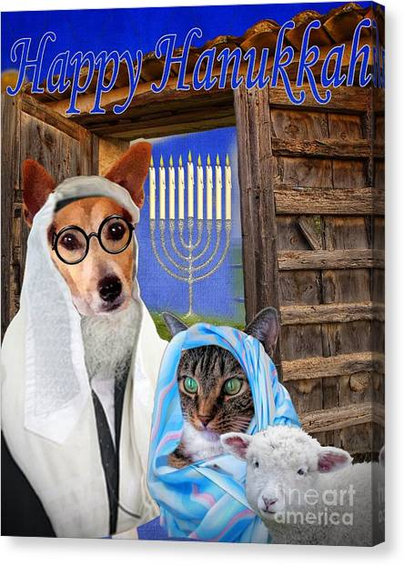 Happy Hanukkah -1 Canvas Print