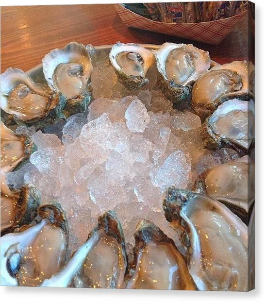 Oysters Canvas Print - Happy, Happy by Linda Christiansen