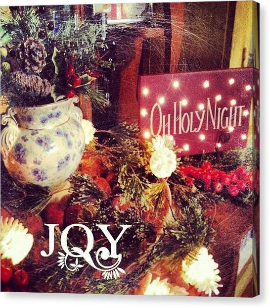 Holidays Canvas Print - Happy Holidays! #phonto #altphoto by Teresa Mucha