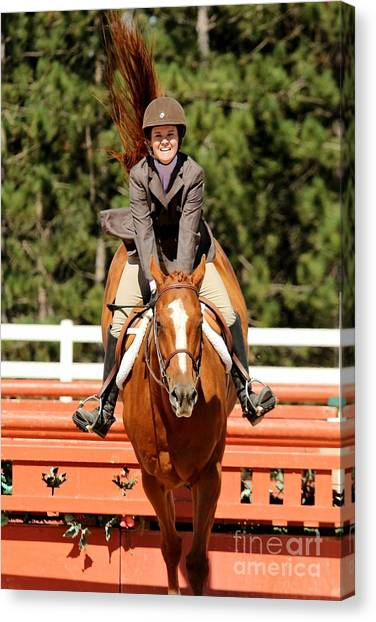 Happy Hunter Horse Canvas Print