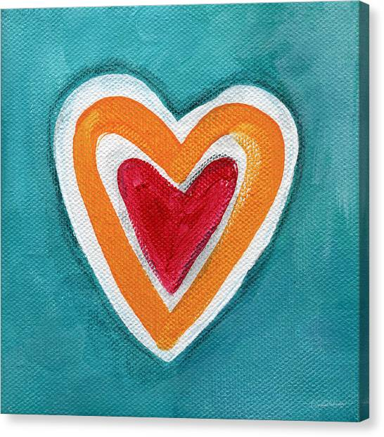 Heart Canvas Print - Happy Love by Linda Woods