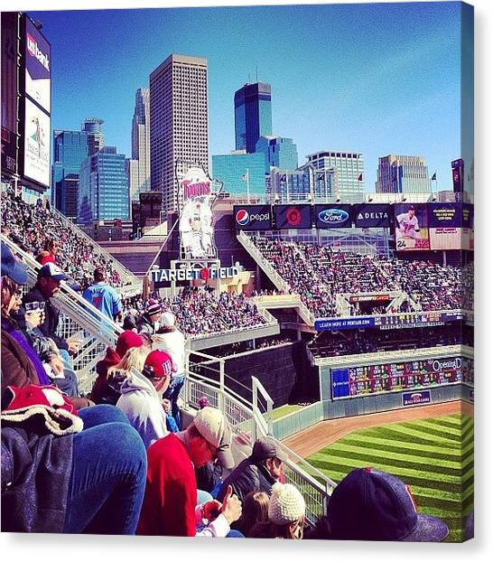 Minnesota Twins Canvas Print - Happy Opening Day!!! #minnesota #twins by Jen Hernandez