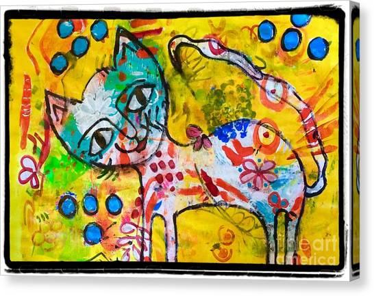 Happy Pussycat Canvas Print