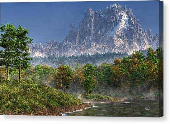 Bob Ross Canvas Print - Happy River Valley by Daniel Eskridge