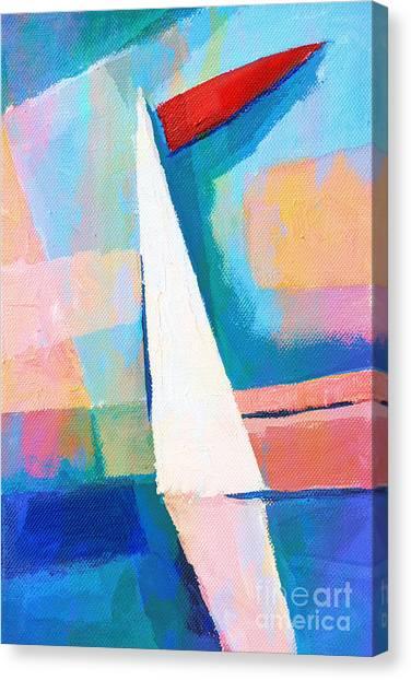 Colorplay Canvas Print - Happy Sailing by Lutz Baar