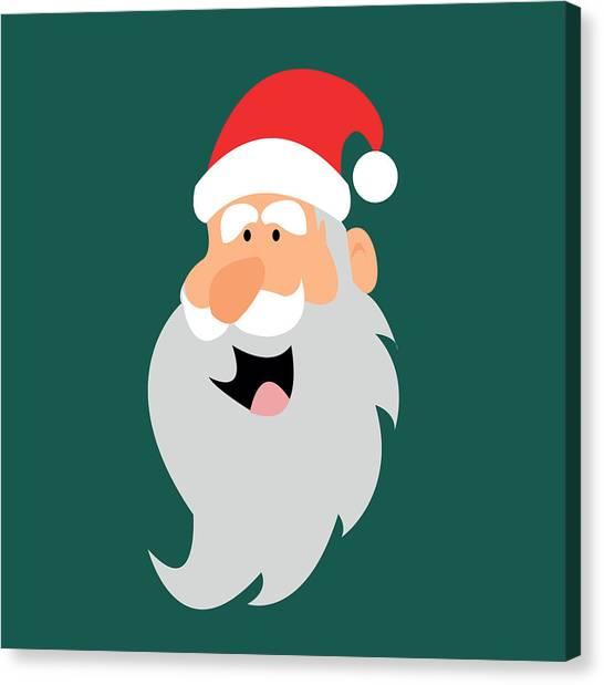Happy Santa Canvas Print by Kenneth Feliciano
