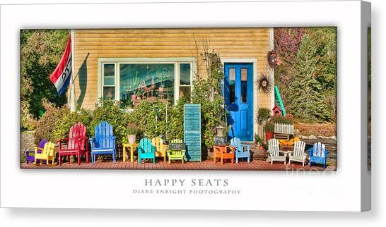 Happy Seats Canvas Print