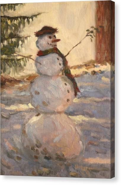 Happy Snowman Canvas Print