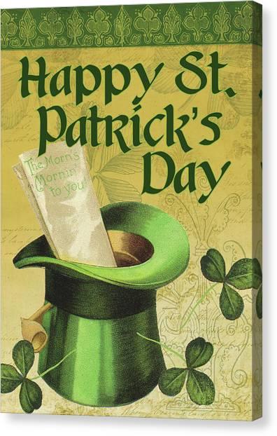 St. Patricks Day Canvas Print - Happy St. Patrick's Day by Tammy Apple