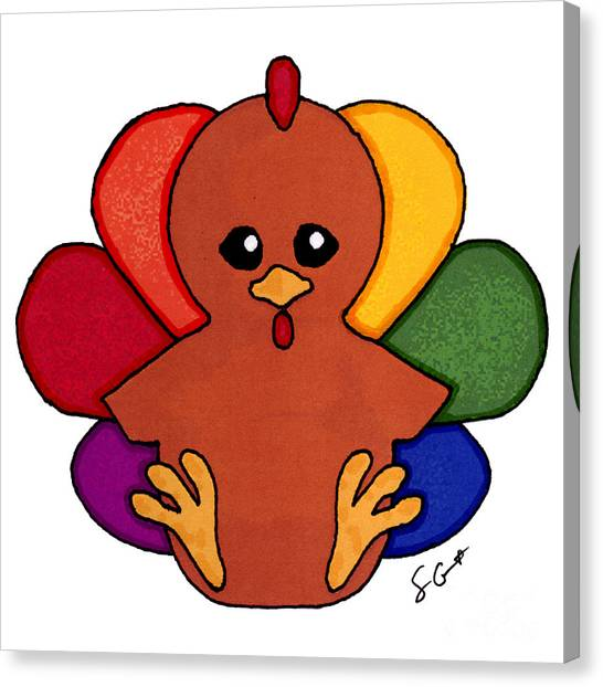 Happy Turkey Day Canvas Print