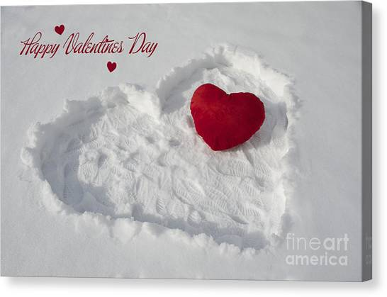 Happy Valentins Days Canvas Print by Nicole Markmann Nelson
