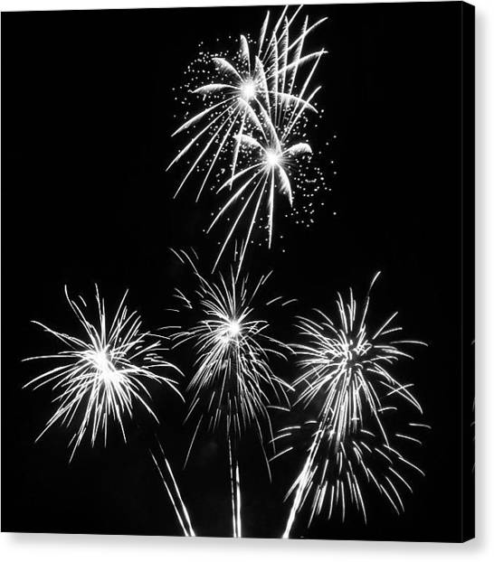 Fireworks Canvas Print - Happy Independence Day  by Heidi Hermes