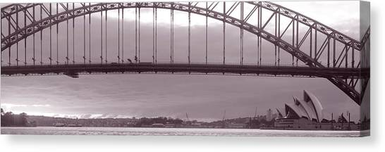 Curvilinear Canvas Print - Harbor Bridge, Pacific Ocean, Sydney by Panoramic Images