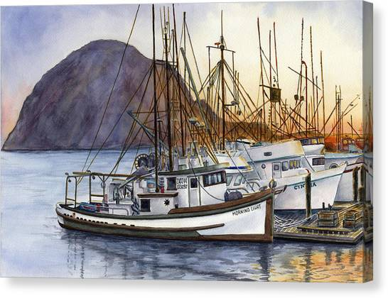 Fishing Boats Canvas Print - Harbor Home by Karen Wright