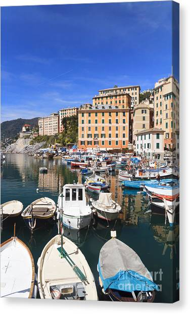 harbor in Camogli - Italy Canvas Print