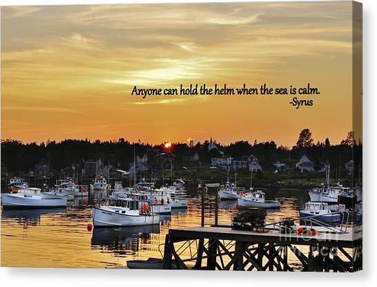 Harbor Inspiration Canvas Print