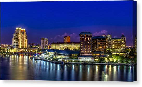 Harbor Island Nightlights Canvas Print