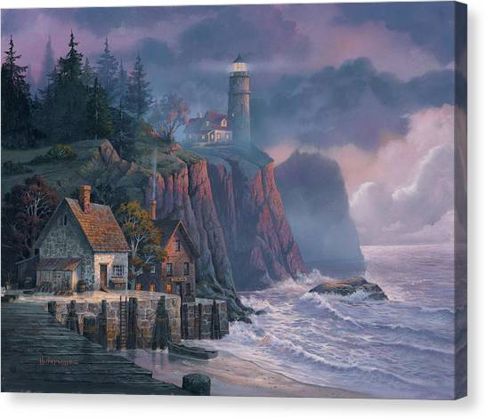 Canvas Print - Harbor Light Hideaway by Michael Humphries