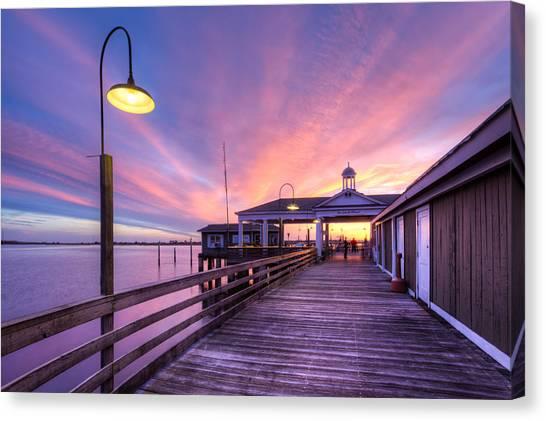 Everglades Canvas Print - Harbor Lights by Debra and Dave Vanderlaan