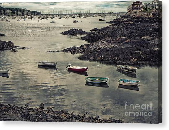 Harbor On A Cloudy Day Canvas Print