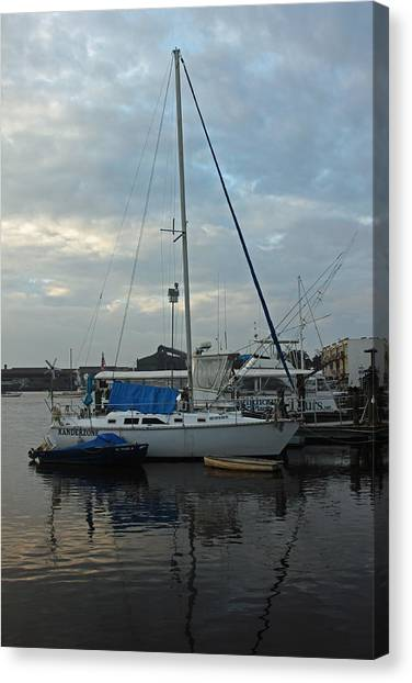 John Boats Canvas Print - Harbor Scenic by Suzanne Gaff
