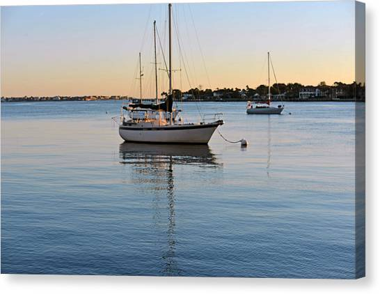 Harbor Sunrise Canvas Print
