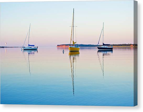 Harbor Sunset Canvas Print