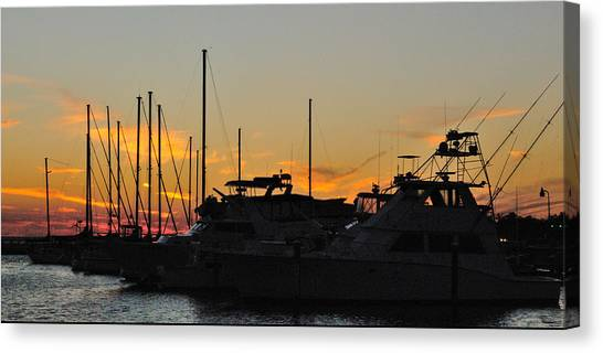 Harbor Sunset Canvas Print