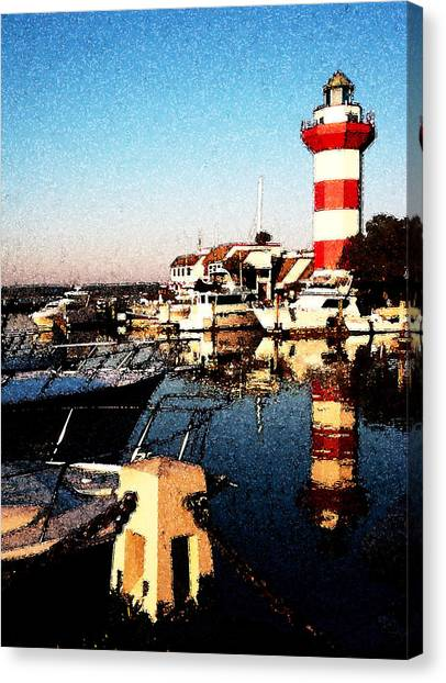 Harbor Town Lighthouse Canvas Print