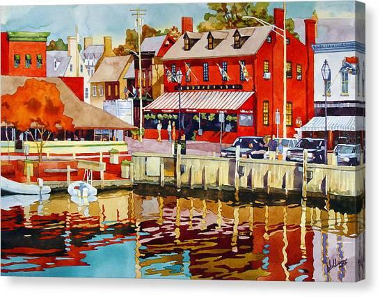 Harborfront Tavern Canvas Print