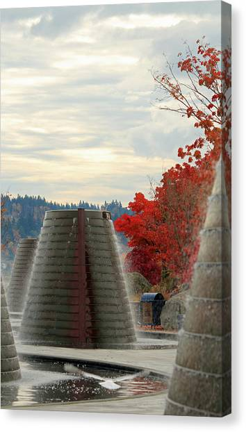 Harborside Fountain Park Canvas Print